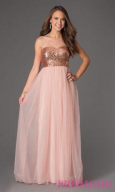 Floor Length Sleeveless Sequin Embellished Dress at PromGirl.com (he better ask)