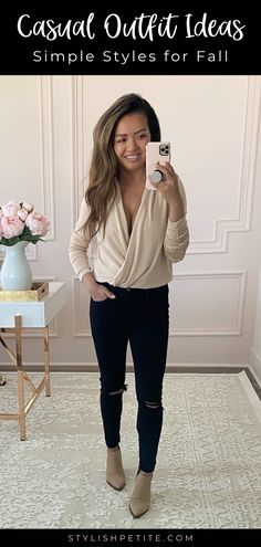 Sharing some easy casual fall outfits that you can easily replicate! Dress Code Casual, Casual Fall Outfits, Stylish Petite, Free People Bodysuit, Skirt And Sneakers, Autumn Winter Fashion, Fall Winter, Sweaters And Jeans, Nordstrom Anniversary Sale