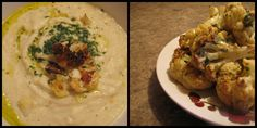 Cauliflower 2 ways. Roasted and puree'd with garlic and basil oil plus creamy cauliflower with non dairy cheese sauce. A great dish to keep you warm through the season. Non Dairy Cheese, Basil Oil, Creamy Cauliflower, Cheese Sauce, Garlic, Roast, Warm, Vegan, Dishes