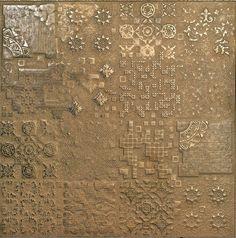 Meu Deus do Céu!!! Isso é um porcelanato. Chama-se Rendering Gold (60 x 60 cm) da espanhola Apavisa.