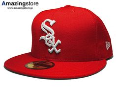 Custom Chicago White Sox Red 59Fifty Fitted Baseball Cap by NEW ERA x MLB 1ebc674f673