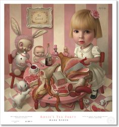 """""""Rosie's tea party"""" by Mark Ryden. Poster size: 30"""" x 28"""". Edition quantity: 500"""