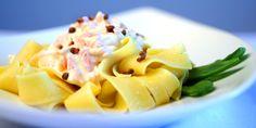 Maten du blir sulten av å se på Pasta, Bastilla, Creme Fraiche, Cantaloupe, Macaroni And Cheese, Food To Make, Food And Drink, Low Carb, Healthy Eating