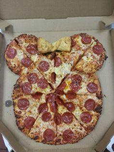 Minnie Mouse Birthday Pizza by Domino's Pizza - Store #2288 #minnie #mickey #birthday