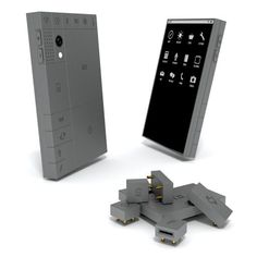 Phonebloks is a concept smartphone comprising individual modules for all of the elements which make up the average handset. This would help ease the problem of electronic waste, and save the average consumer from having to upgrade their whole smartphone. Technology Gadgets, Tech Gadgets, New Technology, Cool Gadgets, Technology Design, Smartphone, Futuristic Phones, Futuristic Technology, Apps