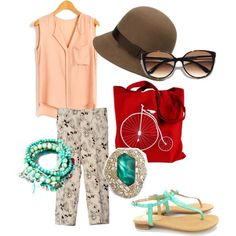 Coral and Turquoise I'd wear...