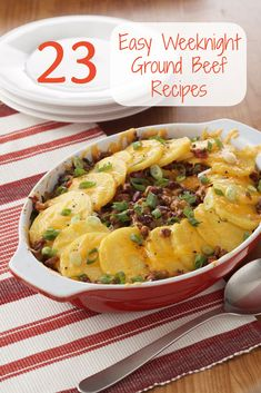 23 easy and affordable weeknight ground beef recipes (like Tamale Pie!)