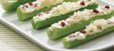 Cheese stuffed celery sticks recipe