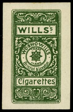 "Cigarette Card Back - Wills ""Actresses Four Colour"" by cigcardpix, via Flickr"