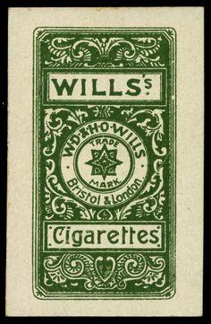 """Cigarette Card Back - Wills """"Actresses Four Colour"""" by cigcardpix, via Design Vintage Graphic Design, Vintage Type, Retro Design, Graphic Design Inspiration, Vintage Designs, Vintage Packaging, Vintage Labels, Vintage Ephemera, Vintage Ads"""