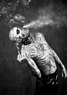 Rick Genest aka Zombie Boy. ☀