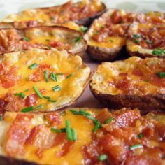 Recipe from Simple Comfort Food: http://www.simplecomfortfood.com/2009/07/18/loaded-potato-skins/ - Loaded Potato Skins
