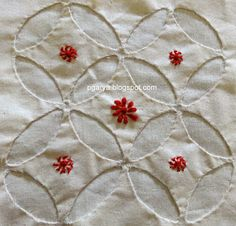 Crafty Needlework by Preethi G: Chikankari V/S Applique Learn Embroidery, Embroidery Stitches, Embroidery Patterns, Diy Fashion Hacks, Kutch Work Designs, Hand Embroidery Tutorial, Designs For Dresses, Pencil Art Drawings, Applique Dress