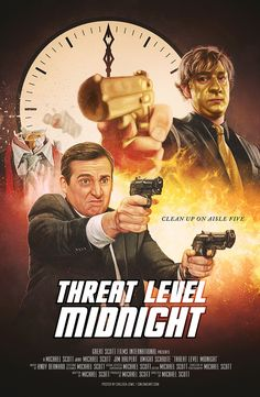 Time to officially reveal my tribute to the greatest movie ever made: Threat Level Midnight! I wanted to create some art celebrating The Office and this was a good place to start, haha. Best Of The Office, The Office Show, Office Tv, The Office Dwight, Office Themed Party, Office Birthday, Office Parties, Threat Level Midnight, Office Jokes