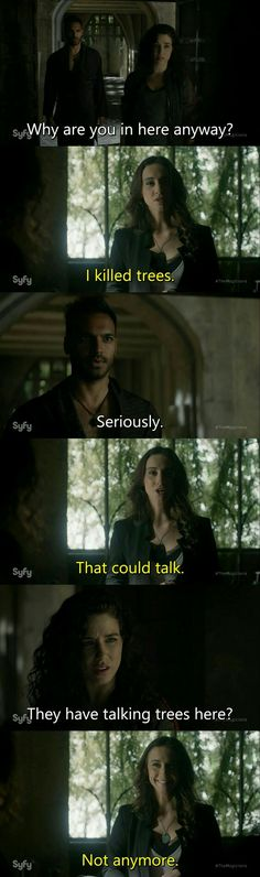 The Magicians & Julia's gleeful genocide of talking trees.