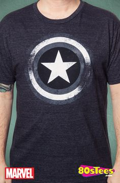 d6b174f547d Gray Captain America Shield T-Shirt  Captain America Mens T-Shirt Geek  Shirts