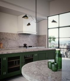 A progressively useful and sensational kitchen was the craving for the millennial customers for this image. On the other hand, the equivalent Caesarstone Turbine Grey utilized for the advanced round table as a top to extend the kitchen. Custom Made Furniture, Furniture Making, Gray Quartz Countertops, Granite, Green Cabinets, Best Kitchen Designs, Kitchen Ideas, Style Tile, Cool Kitchens