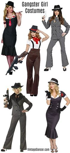 Smart Ladies Womens Gangster Mobster Fancy Dress Costume Kit Dress Set Cool In Summer And Warm In Winter Women Clothing, Shoes & Accessories