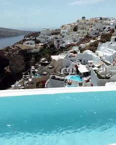 Can you get over this view? In this year's each of the top five resort hotels in Greece are located in Santorini. Santorini Greece Resorts, Best Hotels In Greece, Santorini Luxury Hotels, Mykonos Greece, Crete Greece, Athens Greece, Greece Photography, Travel Tours, Travel Destinations