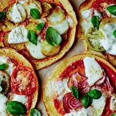 Try this Socca Pizzas recipe by Chef Jasmine and Melissa Hemsley . This recipe is from the show Hemsley   Hemsley - Healthy