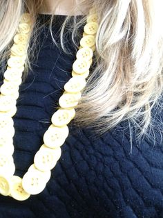 buttons, yellow, statement necklace, croc print #buttons #yellow #statementnecklace #crocprint