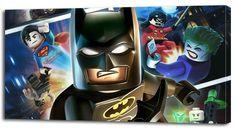 4+Sizes-+LEGO+BATMAN+CANVAS+PRINT+Home+Wall+Decor+Art+Game+Robin+Superman+Giclee+