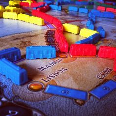 Ticket to Ride: Europe. The Second in the amazing Ticket to Ride series of games. A much more challenging map.  Especially if you don't know European geography :)  lol