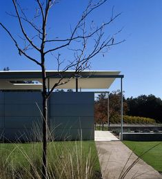 The Pavilion, Pool House and Pool  San Francisco-based architect Jim Jennings worked in close collaboration with James Turrell and Tom Leader to realize the artist's vision for the Skyspaces, and to relate the elements of earth, water and sky to one another