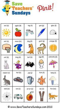Phonics cards (side one) - http://www.saveteacherssundays.com/phonics/year-1/164/phonics-cards/ for a full set of phonics cards #phonics, #reading,  #teaching, #teachers, #teacher, #tutors, #tutor, #teach, #education, #learn, #learning, #primary, #elementary, #KS1, #dyslexia, #dyslexic