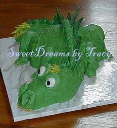 Dragon/Dinosaur Cake Instructions