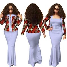 Made To Fit African Women Clothing Long Dress Crop Top Suits Dashiki Prin Latest African Fashion Dresses, African Dresses For Women, African Print Dresses, African Print Fashion, Africa Fashion, African Wear, African Women, African Prints, African Traditional Dresses