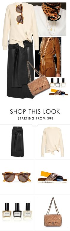 """""""Untitled #903"""" by loveraige ❤ liked on Polyvore featuring Joseph, Illesteva, MSGM, Balmain and Chanel"""