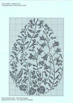 floral egg pattern