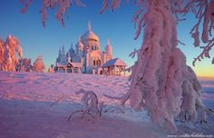 White Mountain, Belogorsky Monastery, Perm Region, Middle Urals, Russia, -38C freezing cold by Vadim Balakin. #Snow #security hide https://play.google.com/store/apps/details?id=com.leo.appmaster&referrer=utm_source%3Dseo
