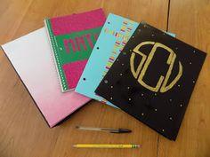 Chasing College: DIY School Supplies #binder #folder #notebook