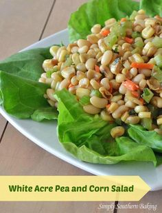 White Acre Pea and Corn Salad - a southern favorite from Simply Southern Baking