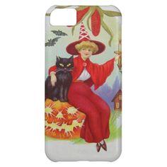 Witch Black Cat Jack O Lantern Bat Corn Case For iPhone 5C
