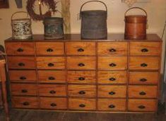 Rooster Run Antique Furniture in Original Surface and Early Paint..Love this!!