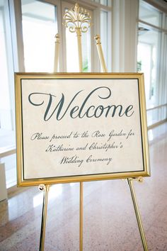 1776 Presidential Themed Wedding Design - Welcome Signage