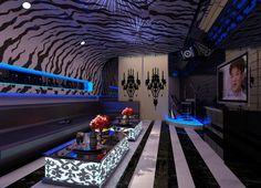 Dream ceiling KTV room 3d interior design