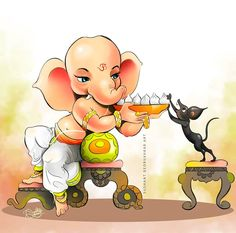 Ganpati Drawing, Ganesha Drawing, Ganesha Painting, Shri Ganesh Images, Ganesha Pictures, Clay Ganesha, Ganesha Art, Sinchan Cartoon, Cartoon Stickers