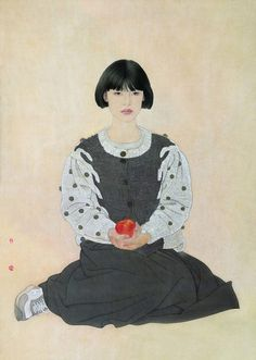 He Jiaying, Contemporary Chinese artist ~ Blog of an Art Admirer-this kind of looks like me!  :-)