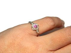 Pink Sapphire Ring by JewelrybyDecember67 on Etsy, $49.00