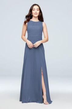 fff1679a887 Soie Chiffon High-Neck Bridesmaid Dress 4XLF19960 Wedding Looks