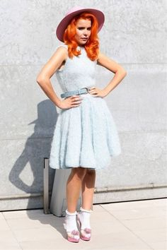 Milan Fashion Week Spring Parties & Front Row - Paloma Faith I need to look Like her perfect xxx Paloma Faith, Synthetic Lace Front Wigs, Vintage Looks, Vintage Style, Ikon, Nice Dresses, Amazing Dresses, Celebrity Style, Muse