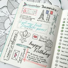 Monthly Memories page in Bullet Journal - fun way to look back at past months at a glance! :)  I also like the circle check list.