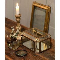 Ib Laursen Glas Smyckeskrin - Spegel Botton - Antique Brass