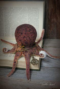 Octopus stuffed doll artist by IrinaSTextileheart on Etsy