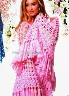 Chal triangular de ensueño | Todo crochet
