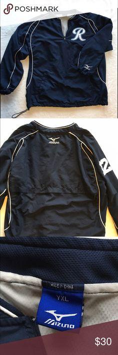 "Mizuno 1/4 Zip Pullover 1/4 Zip Baseball Warm-Up Jacket. ""R"" for Washington Rainiers!  EUC. Size Youth XL Mizuno Jackets & Coats"